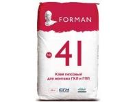 FORMAN 41 клей гипсовый монтажный 2-20мм 25кг