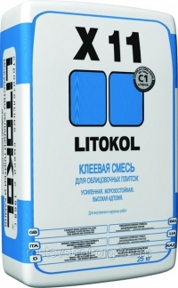 Клей для плитки LitoKol  Х11 25 кг